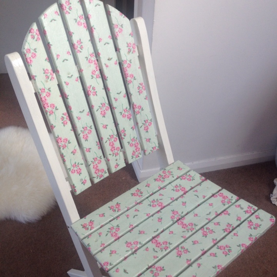 Make an Adorable Upcycled Decoupage Chair   Guidecentral