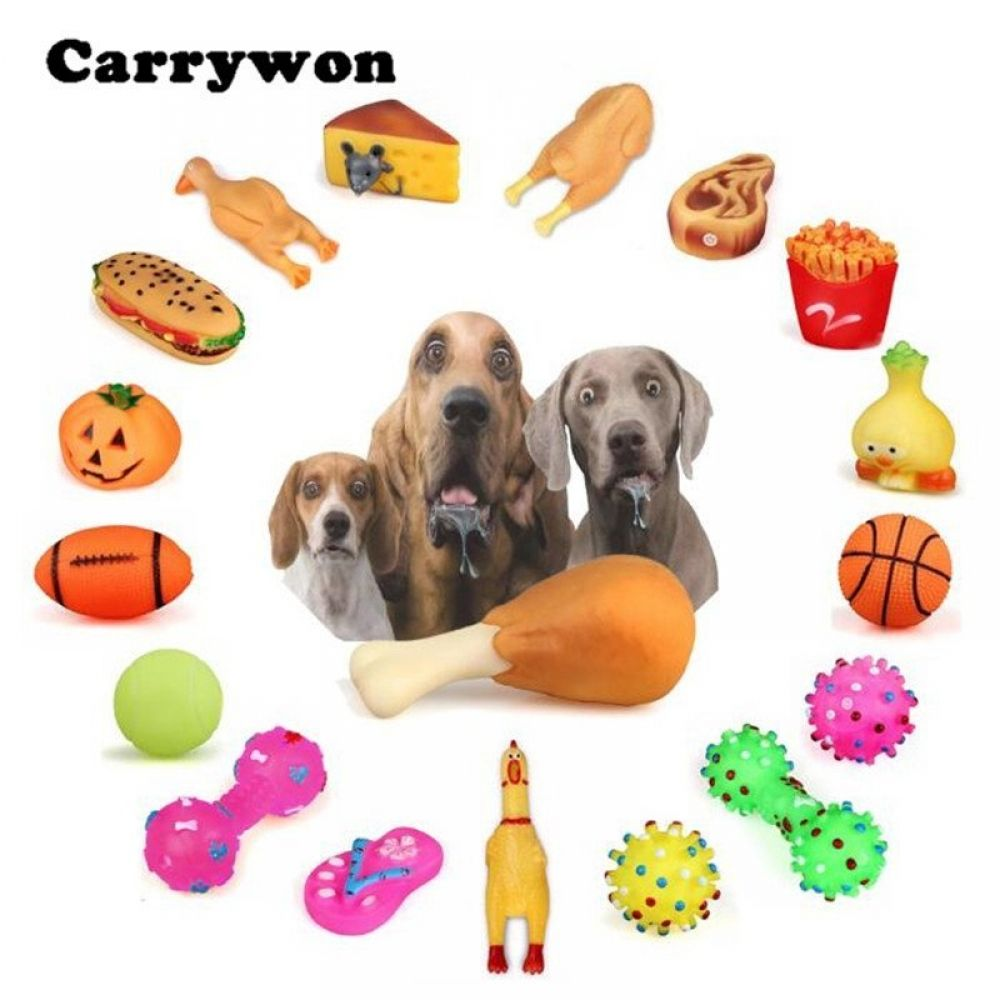 Chew Toys Anti Bite Squeaker Squeaky Plush Sound Cute Dog Toys