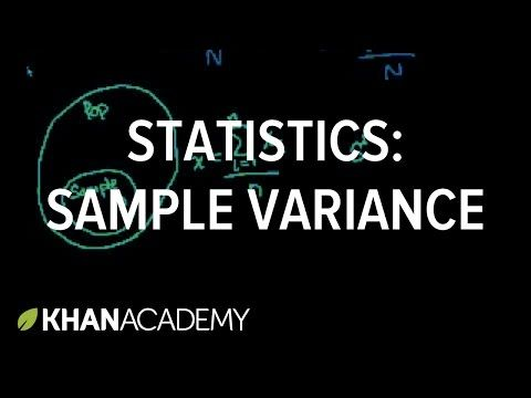 Khan Academy Statistics - YouTube Statistics Class Pinterest - sample variance