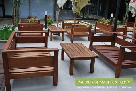 Living Exterior Para Restaurant Muebles Muebles De Madera