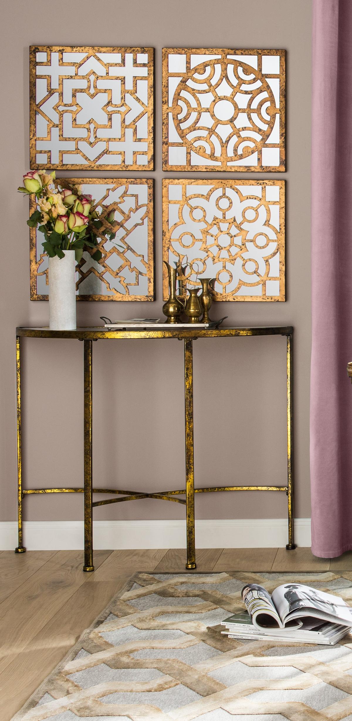 4 Piece Jacinth Mirrored Wall Décor Set | Morrocan decor ...