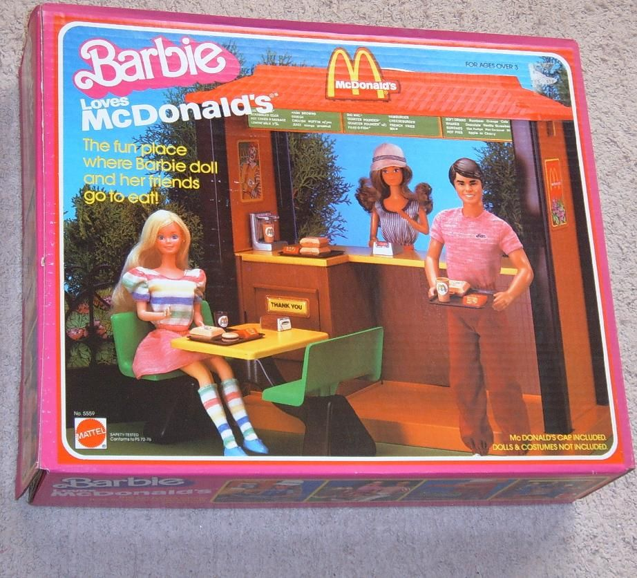 Barbie McDonalds set   I wanted one soooooooo bad.