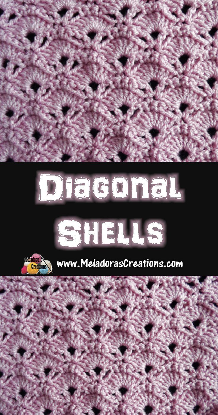 Diagonal Shells Crochet Stitch Tutorial | afaghan | Pinterest ...