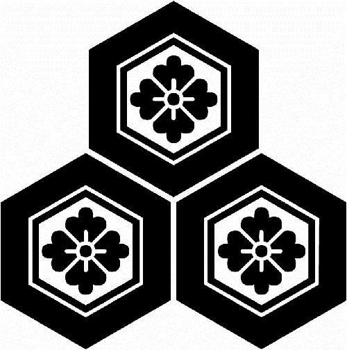 三つ盛り亀甲に花菱紋 みつもりきっこうにはなびしもん 浅井氏 家紋