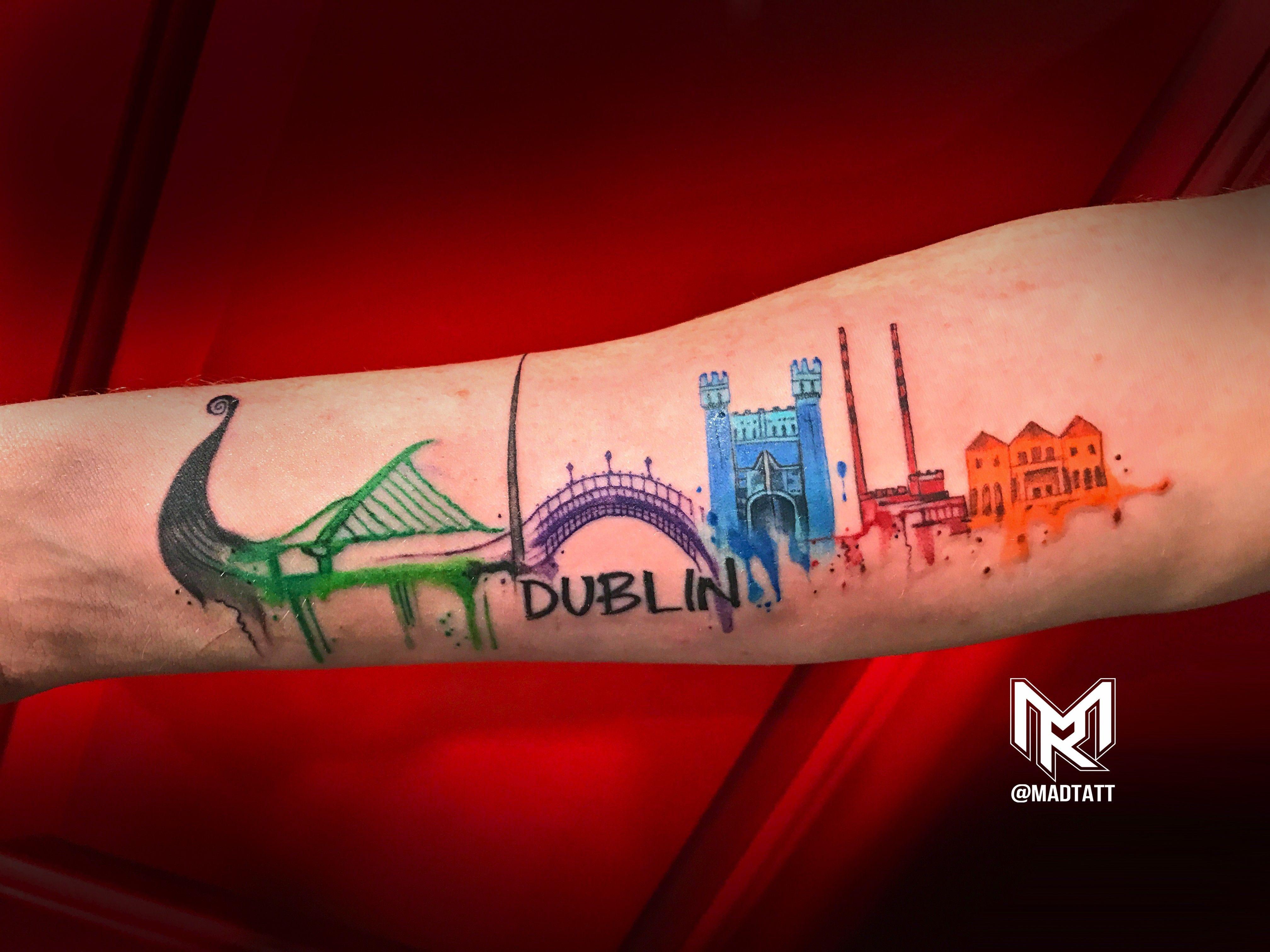 Dublin Skyline Tattoos Pinterest Tattoos Skyline Tattoo And