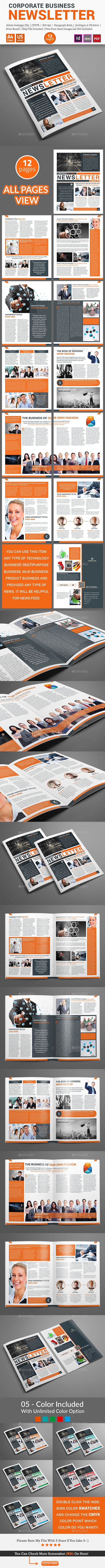 Newsletter For Corporate Business Pages Pinterest Corporate - Pages newsletter templates