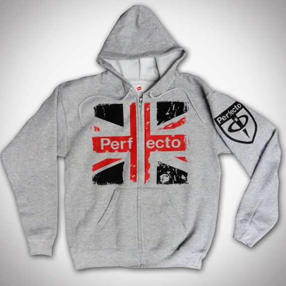 PAUL OAKENFOLD Union Jack Perfecto Zip Up Hoodie - Grey