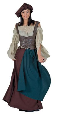 Medieval Peasant Adult Costume - Medieval Costumes  sc 1 st  Pinterest : ideas for medieval costumes  - Germanpascual.Com