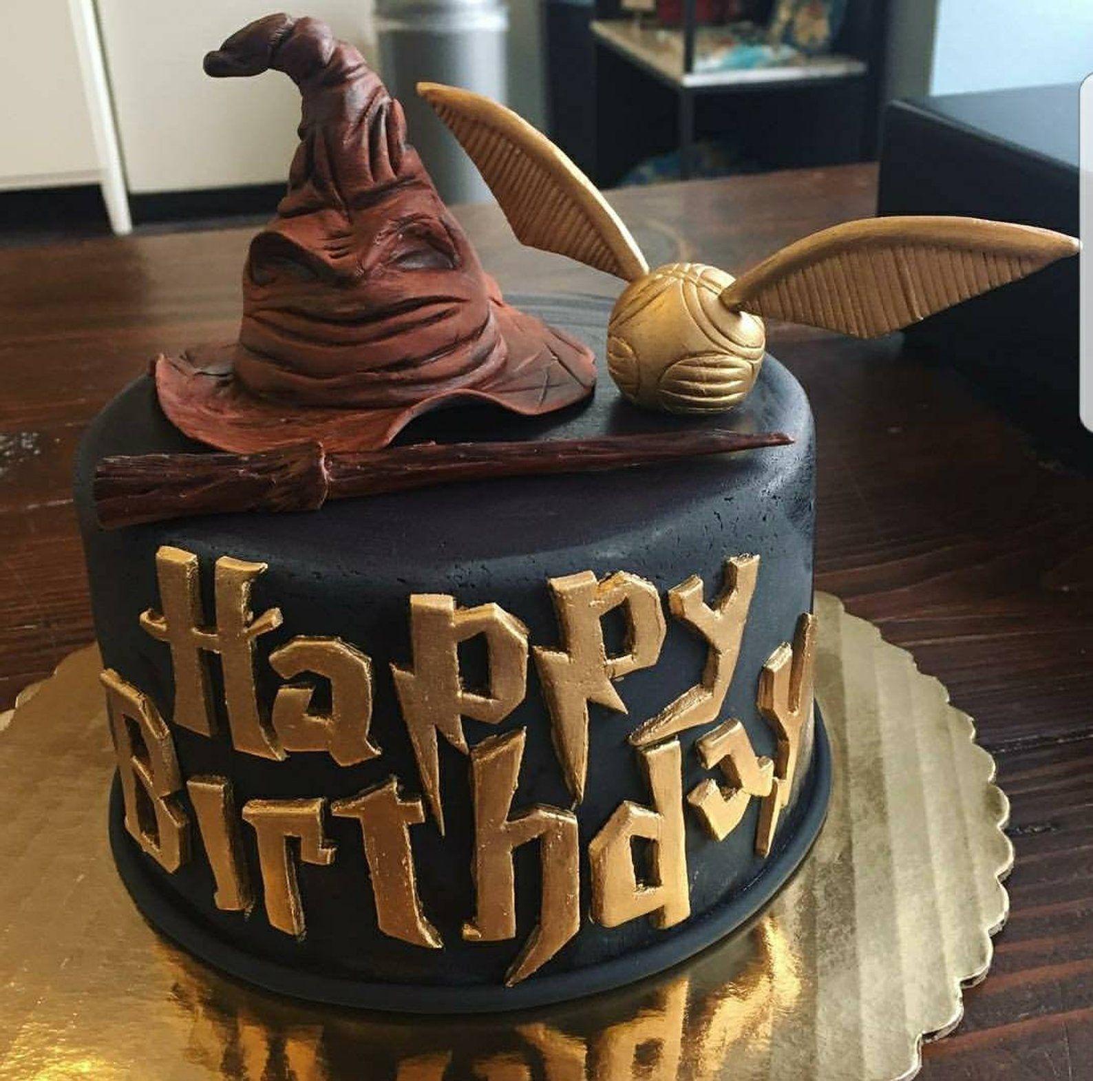 Fondant Harry Potter Cake Topper Set Etsy Harry Potter