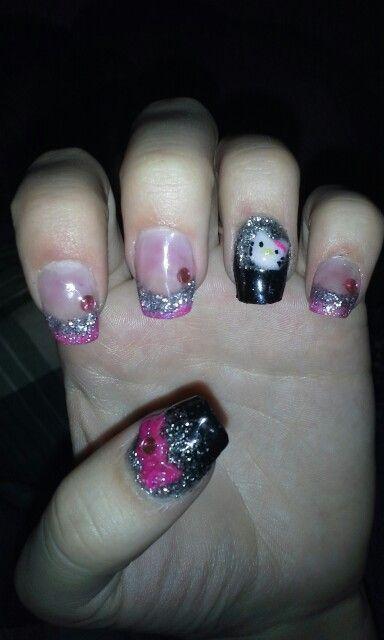 Hello kitty nails 3-D