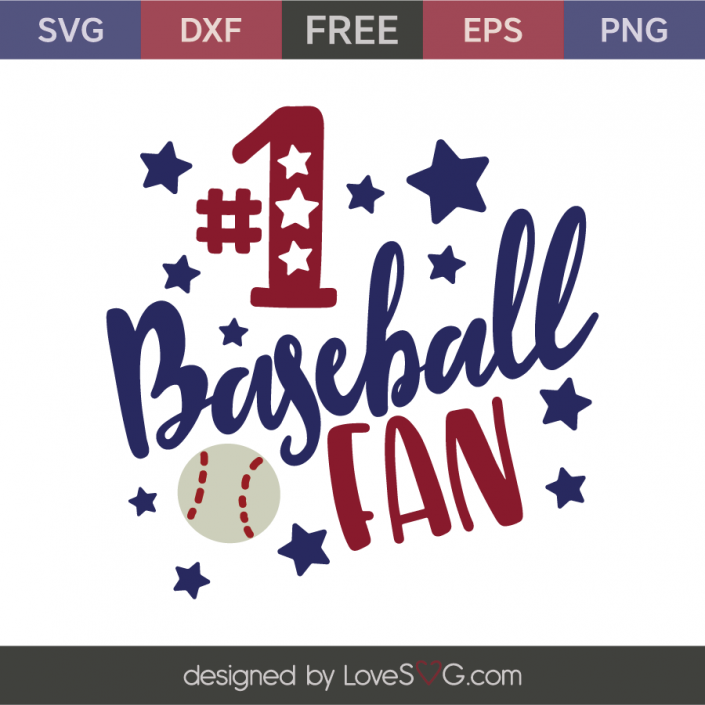 *** FREE SVG CUT FILE for Cricut, Silhouette and more *** #1 baseball fan