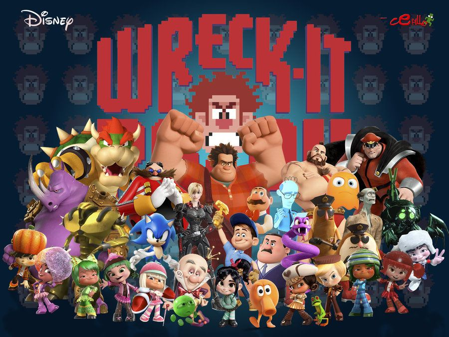 All the Wreck it Ralph featured characters from movie