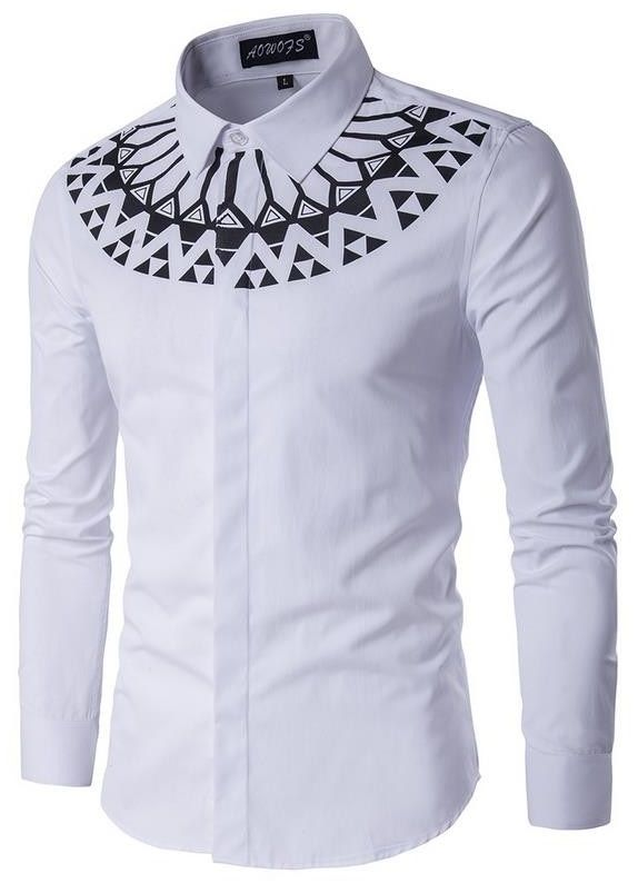 7bcf5da9 Imagem 1 | Moda africana | White shirt men, Striped long sleeve ...