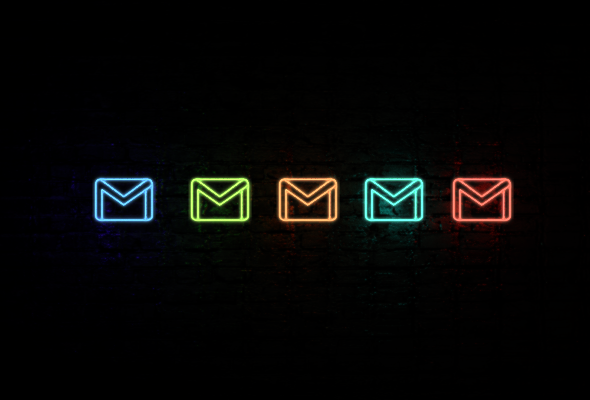 gmail neon icons Neon