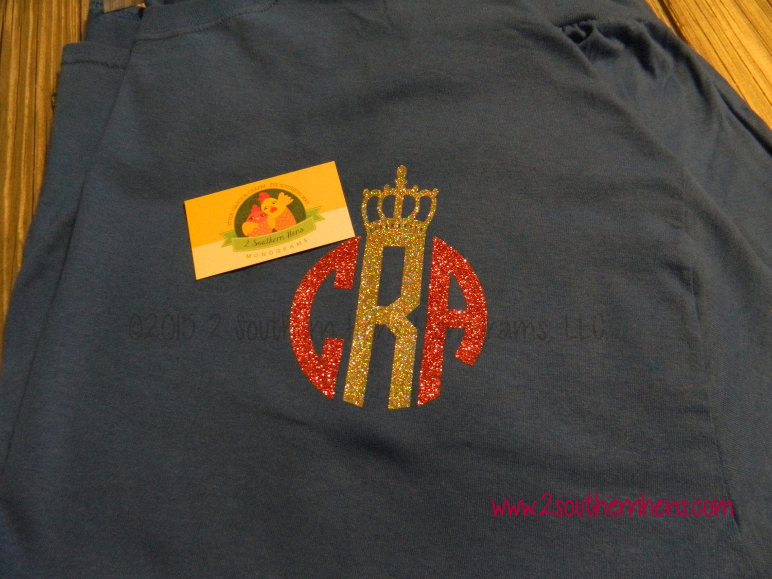 Glitter Monogram with Crown Personalized T - pinned by pin4etsy.com