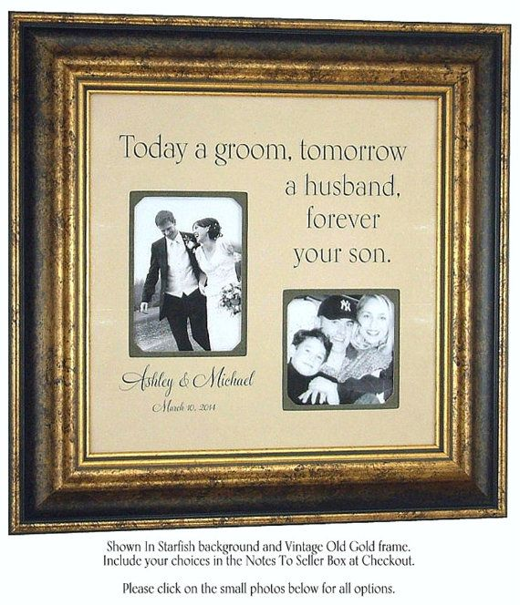 Personalized Picture Frames, Wedding Sign, Parents, Today A Groom ...