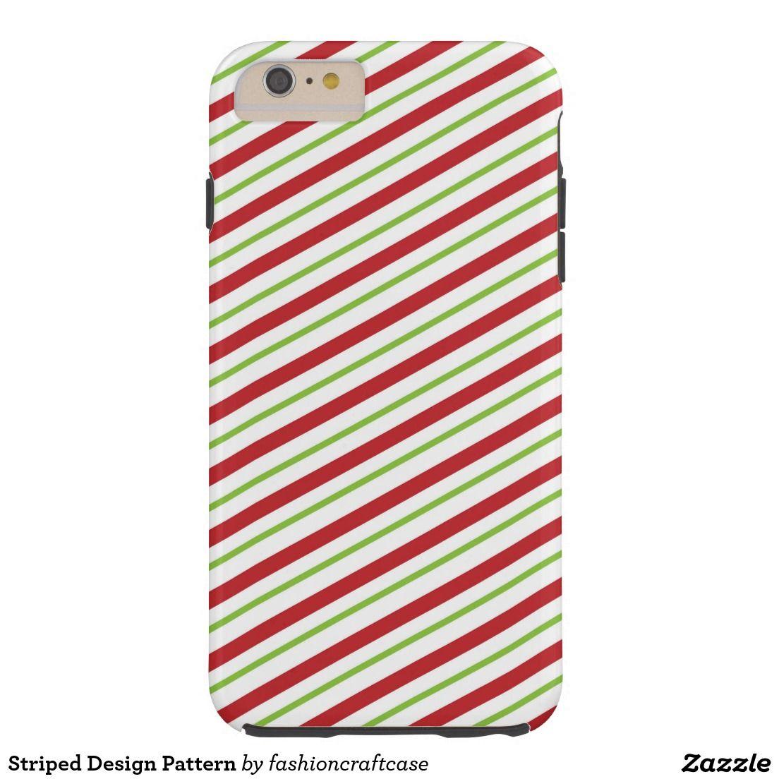 Striped Design Pattern Tough iPhone 6 Plus Case