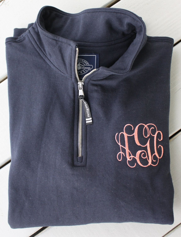 Monogrammed Quarter Zip Sweatshirt FBHp98O