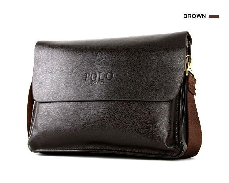 b799b9821a1a Hot sale fashion men messenger bag POLO VIDENG business big size bag faux  leather