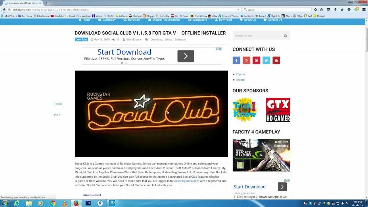 Download Rockstar Social Club v1 1 5 8 and v1 1 6 8 To Play GTA 5