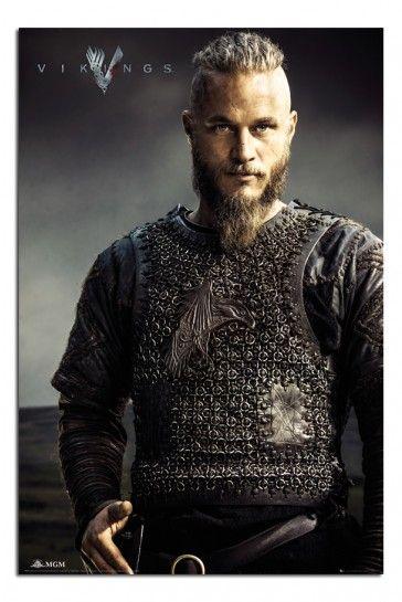 Vikings Tv Show Ragnar Lothbrok Poster Vikings Awesome