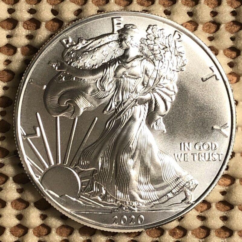 2020 American 1 Oz Silver Eagle Coin 999 Fine Silver Brilliant Uncirculated Bullion Coin Collectible In 2020 Silver Eagle Coins Eagle Coin Silver Eagles