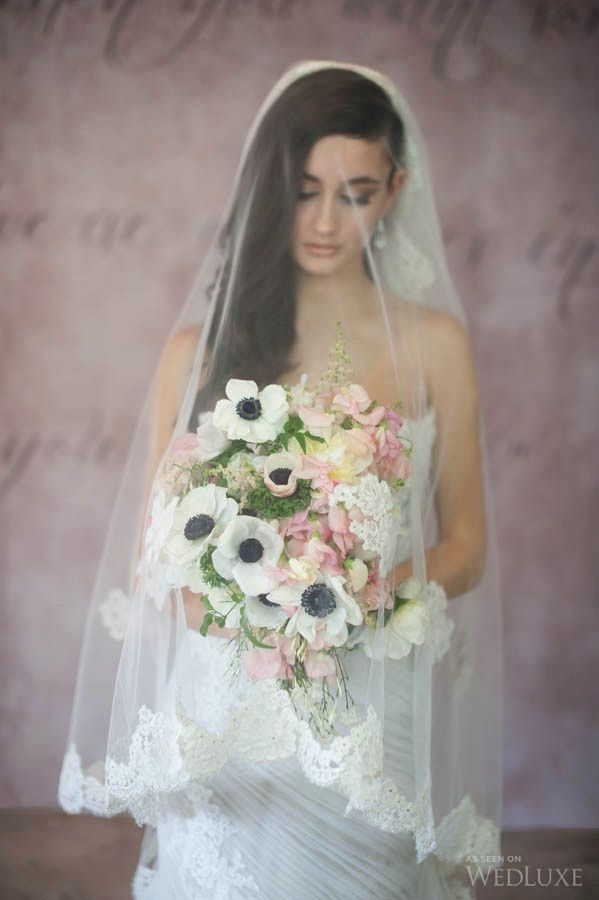 Gorgeous wedding #bouquet in a soft colour palette of white, pale pinks and hints of yellow  | Photography by Blush Wedding Photography | WedLuxe Magazine