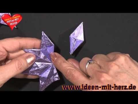 Ideen Mit Herz Origami Stern Zierstern Youtube Idee Mit Herz Origami Sterne Origami