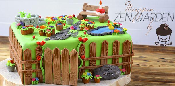 Marzipan Zen Garden Ein Susser Platz Zum Entspannen Mann Backt Gartenkuchen Susse Platzchen Marzipan