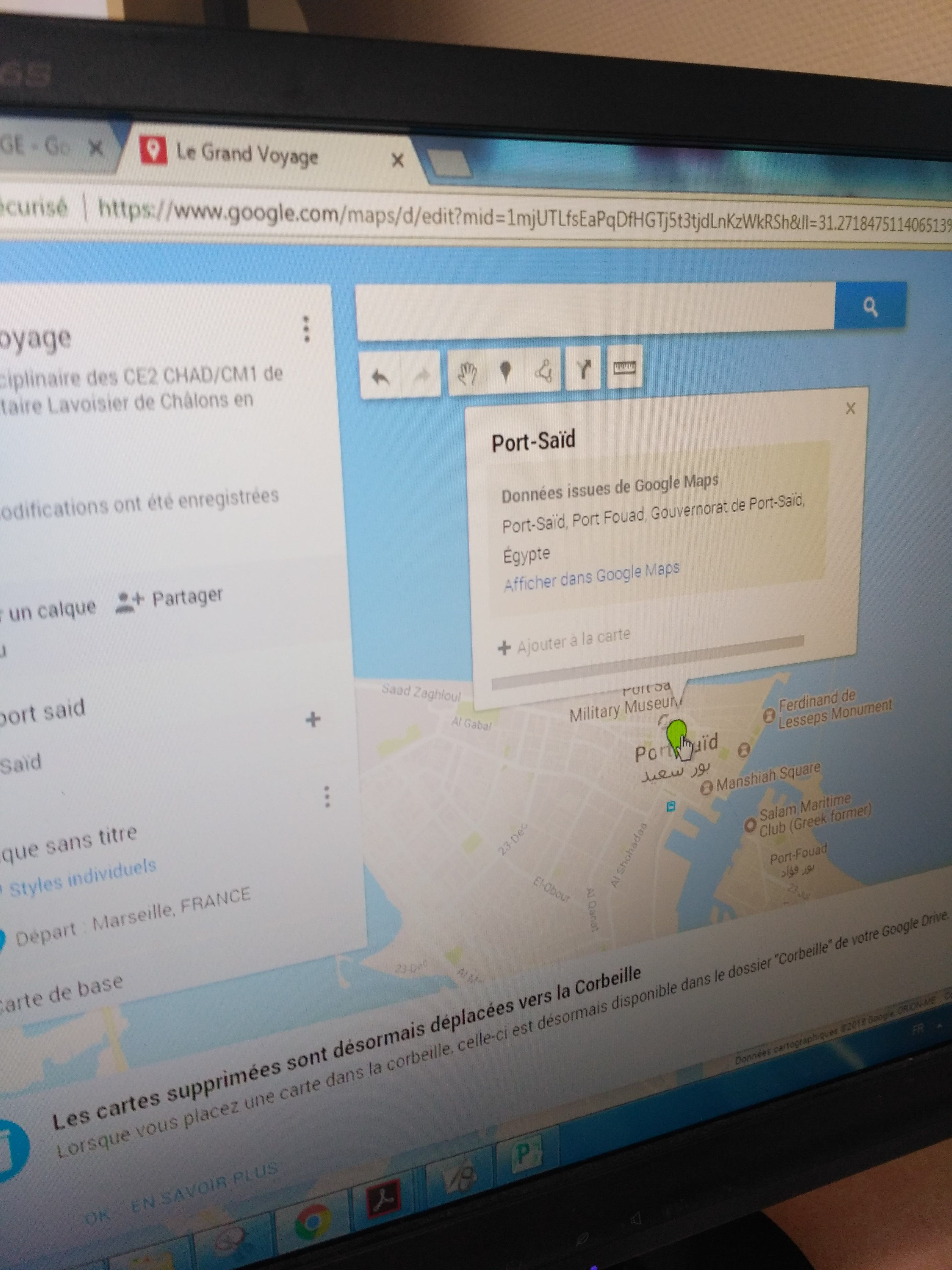 Projet « Le Grand Voyage » : La carte #géographie #simulationglobale #EMI- Tablettes ...