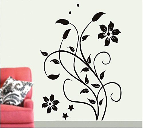 Wall stickers for living room removable wall stickers home decor decal mural room paper art flower vine learn more by visiting the image link