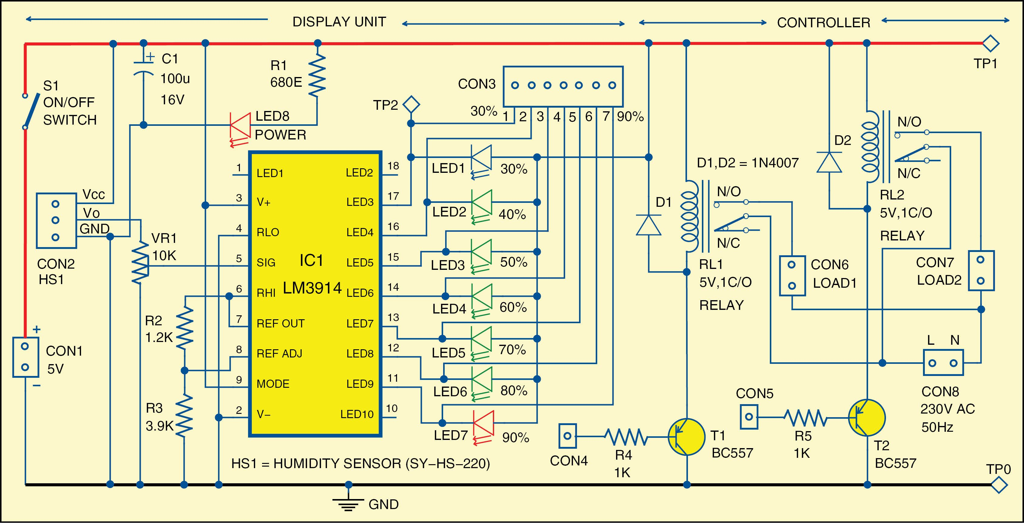 Humidity Indicator And Controller Electronics Pinterest Remoteencoder Transmitter Circuit