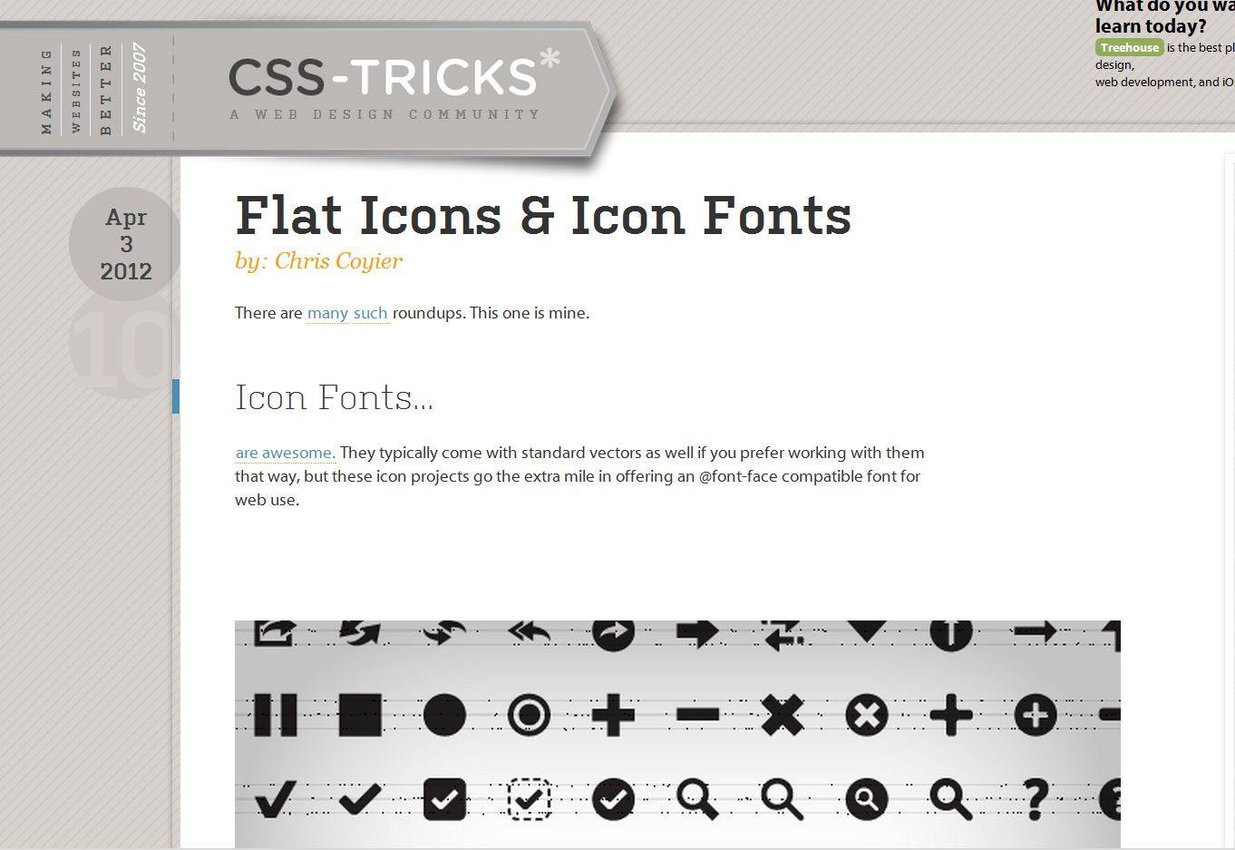 via icon fonts Web design tools