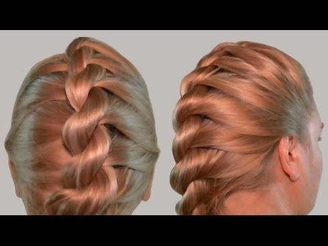 FRENCH TWIST ROPE BRAID Hairstyle.Hair Tutorial. Back To School ...