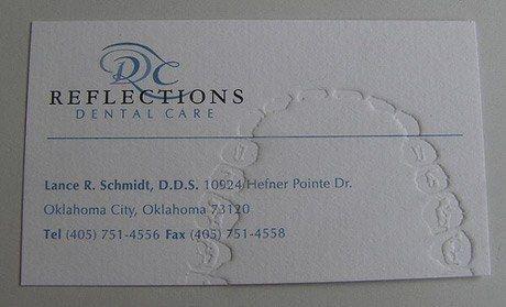 Dentist business card with teeth marks print business cards dentist business card with teeth marks colourmoves