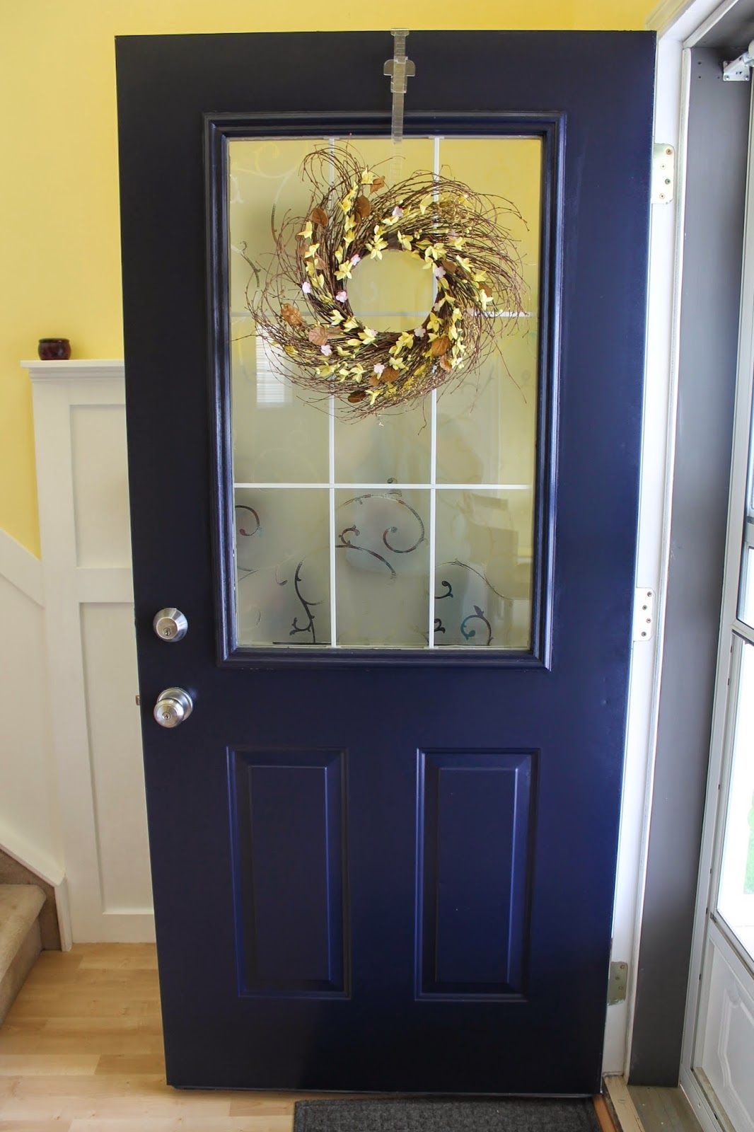 Front Door Amp Porch Light Update With Images Navy Front
