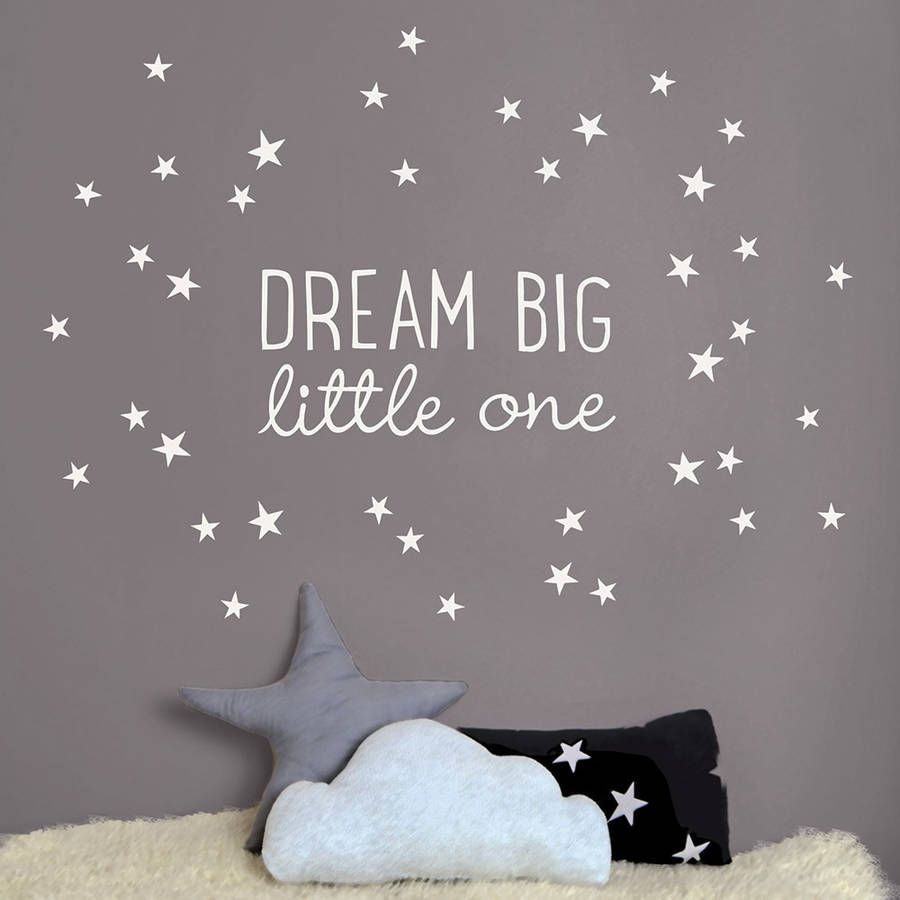 Dream Big Little One Wall Sticker Part 51