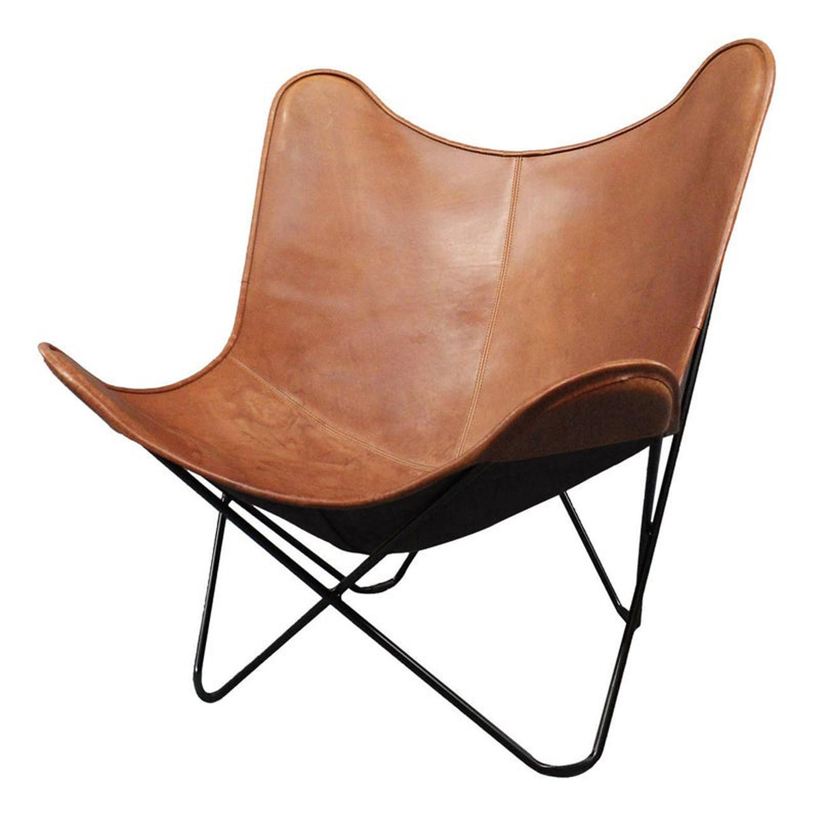 Elegante Echtes Leder Wohnzimmer Schmetterling Stuhl Home Etsy In 2020 Leather Butterfly Chair Butterfly Chair Living Room Leather