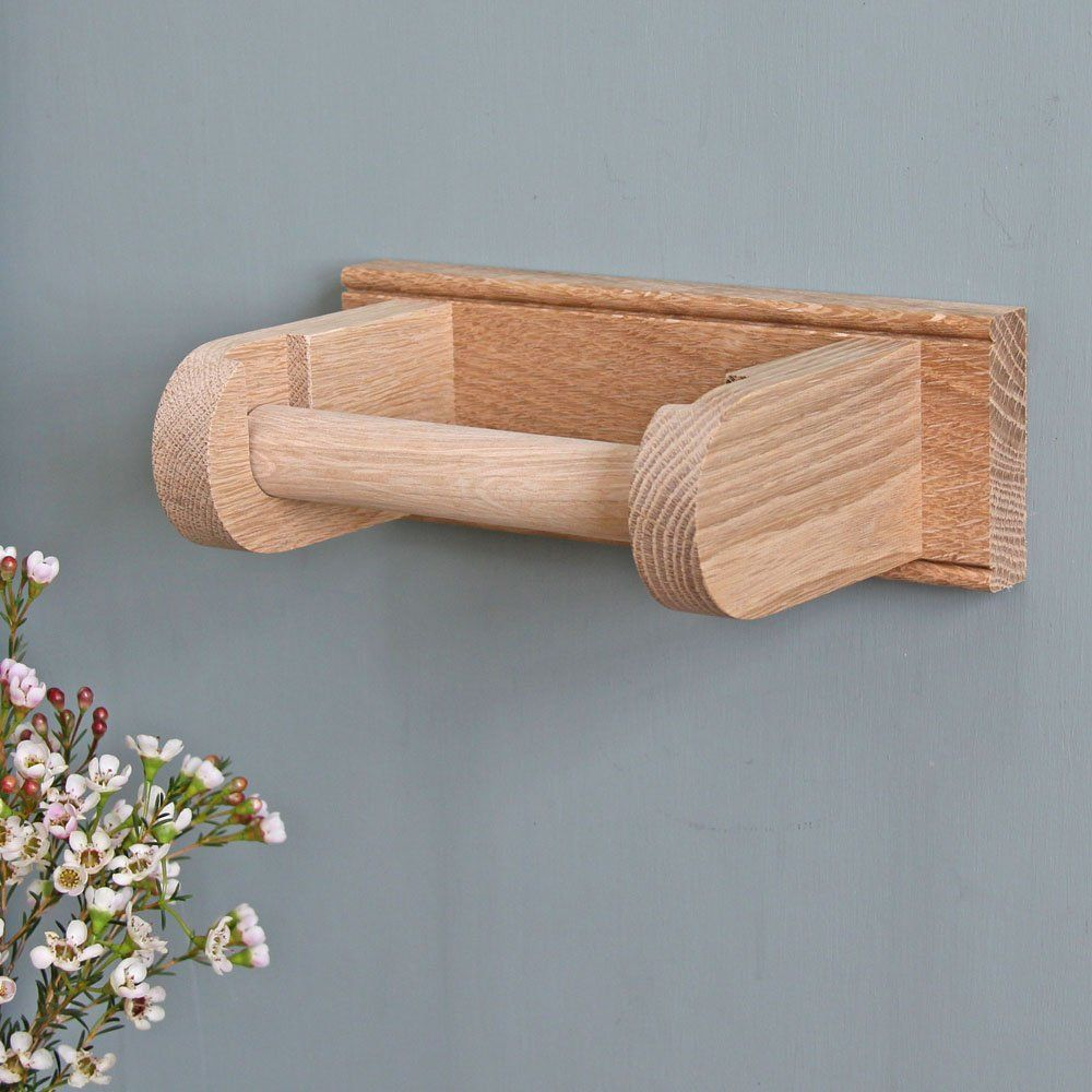 Shaker Style Oak Loo Roll Holder | - New Pad - | Pinterest | Loo ...