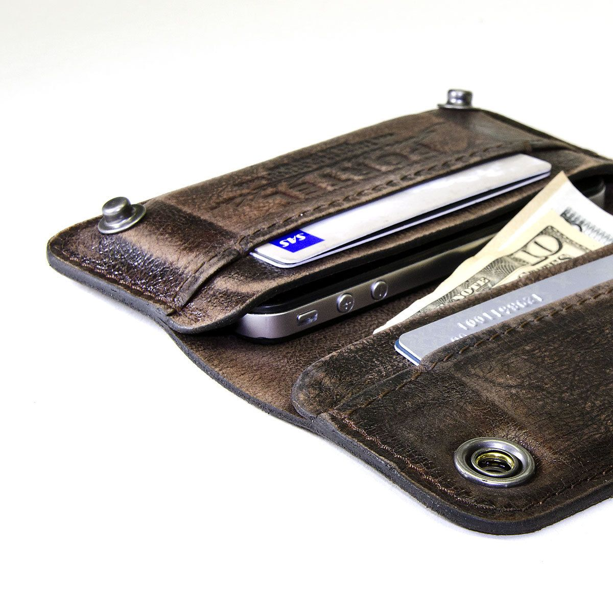 iPhone / iPod Touch - - RETROMODERN aged leather wallet
