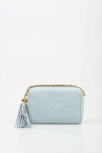 Chanel Blue Tassel Bag