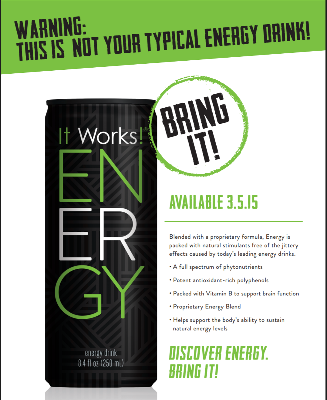 I CANNOT wait to try this All natural energy with a pear blueberry
