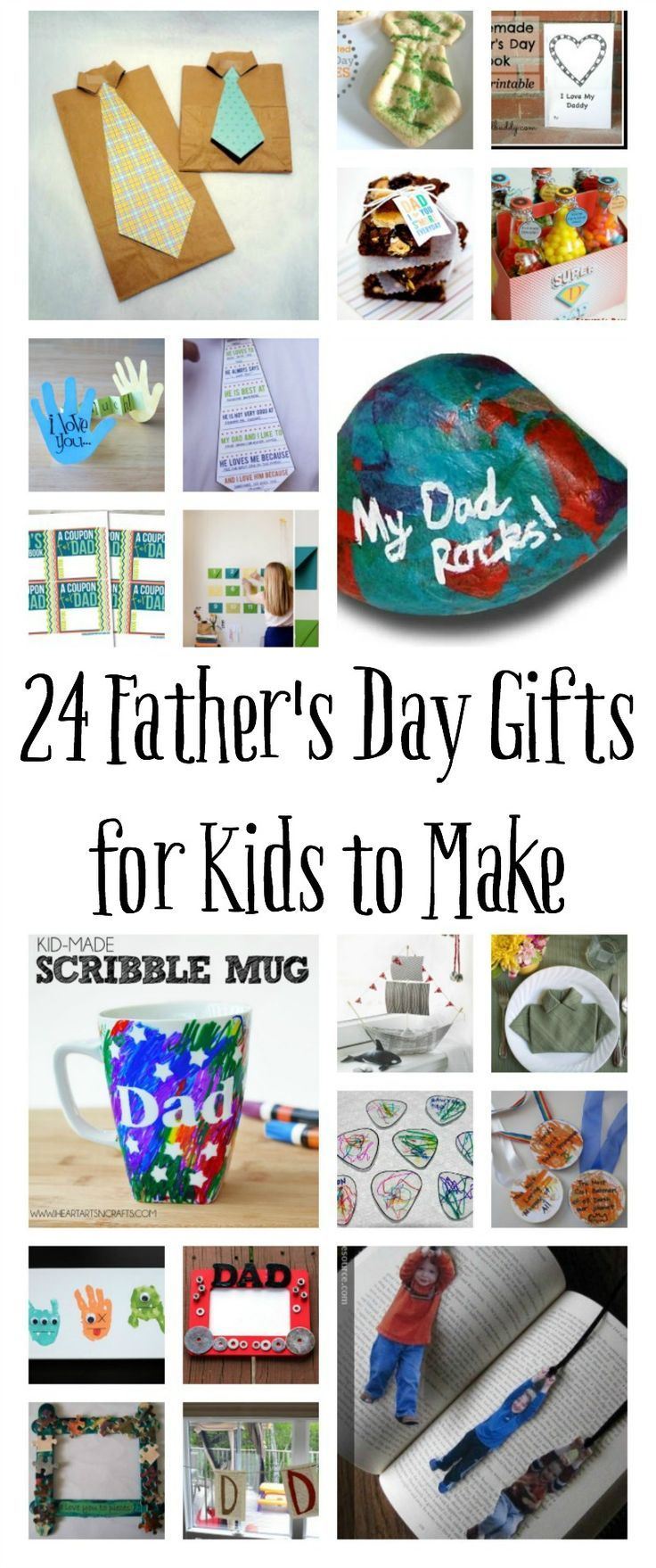 100 Homemade Father's Day Gifts for Kids to Make Fathers