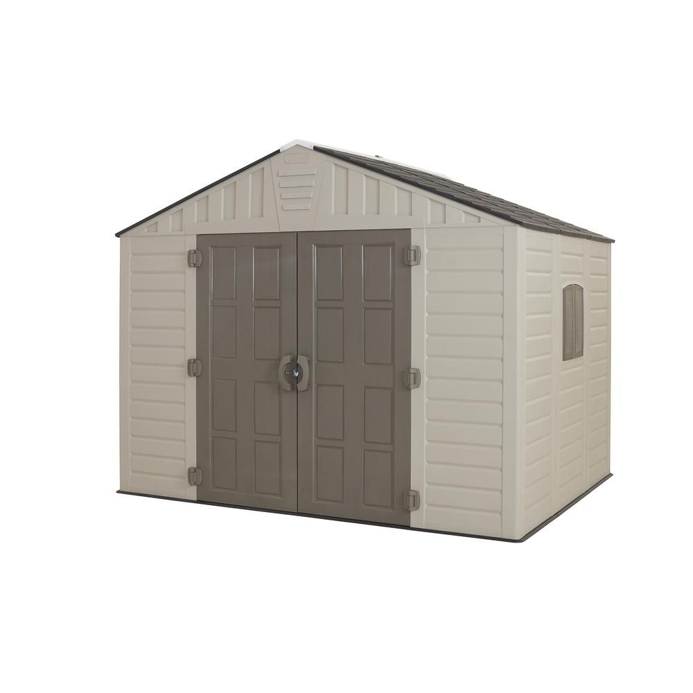 Us Leisure 10 Ft X 8 Ft Keter Stronghold Resin Storage Shed 157479 Plastic Storage Sheds Shed Storage Resin Storage