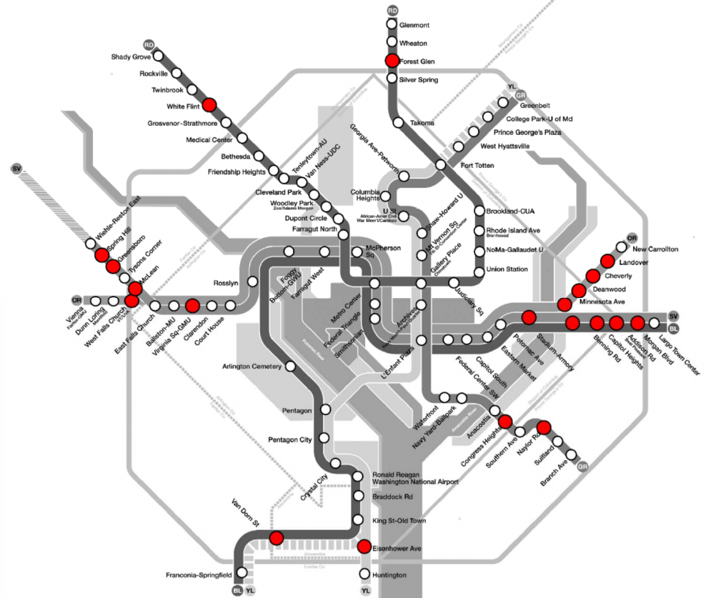 These stations and bus routes face service cuts if Metro can't balance its budget