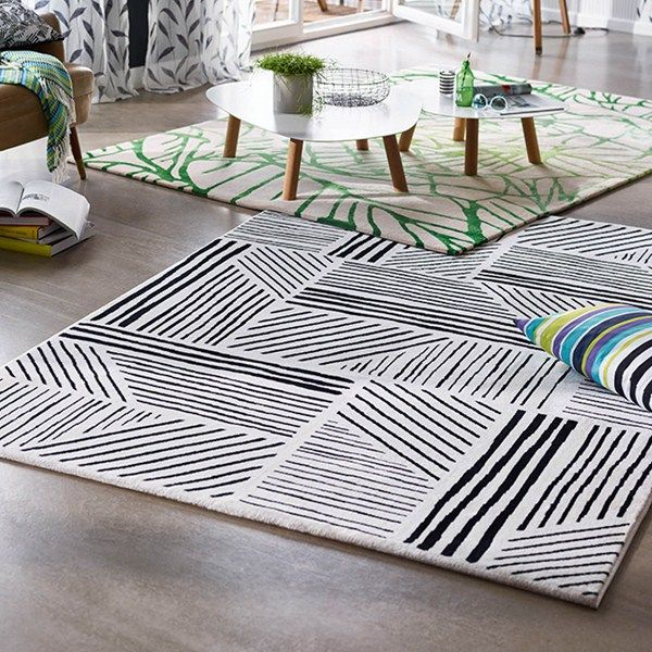 Graphics Rugs By Esprit Feature A Bold Black And White