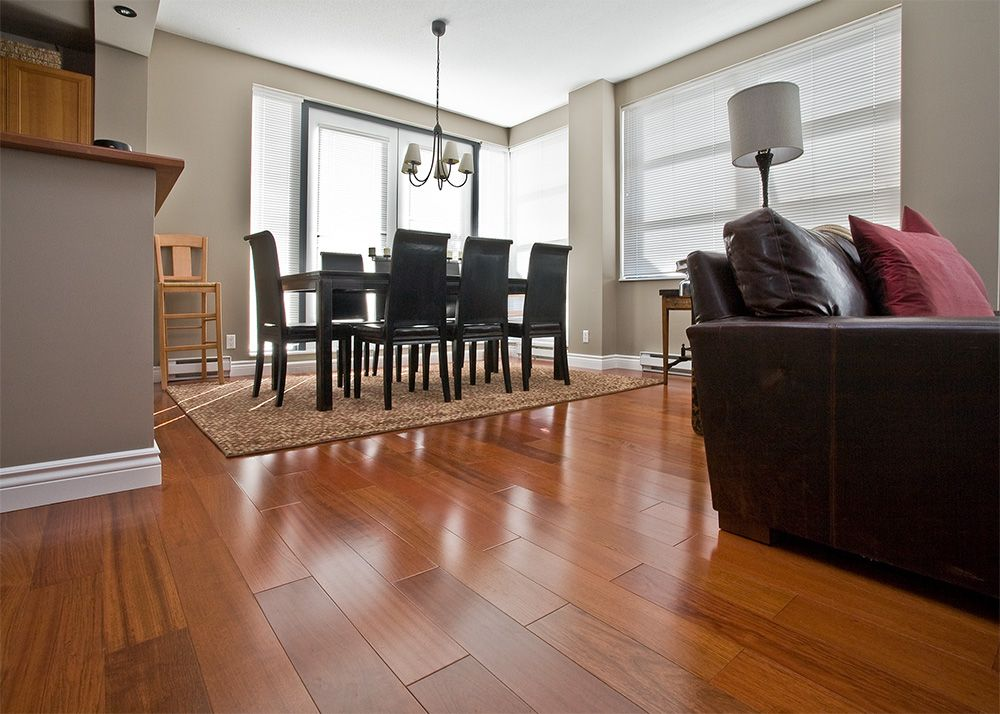 This gorgeous Brazilian cherrywood floor is moving me away from my original  idea of handscraped, which is what I have now. - Van-braz-cherry-2 Engineered Hardwood Living Room Pinterest
