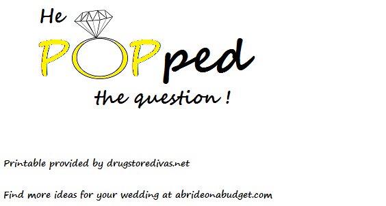 graphic relating to He Popped the Question Printable called Do it yourself: He \