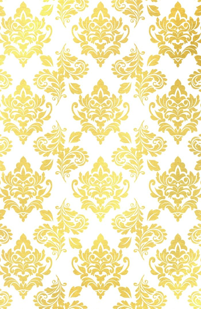 Buy Gold foil damask pattern gold damask Art Print by