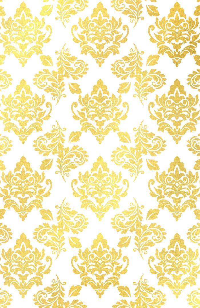 Buy Gold Foil Damask Pattern Gold Damask Art Print By Mercedes